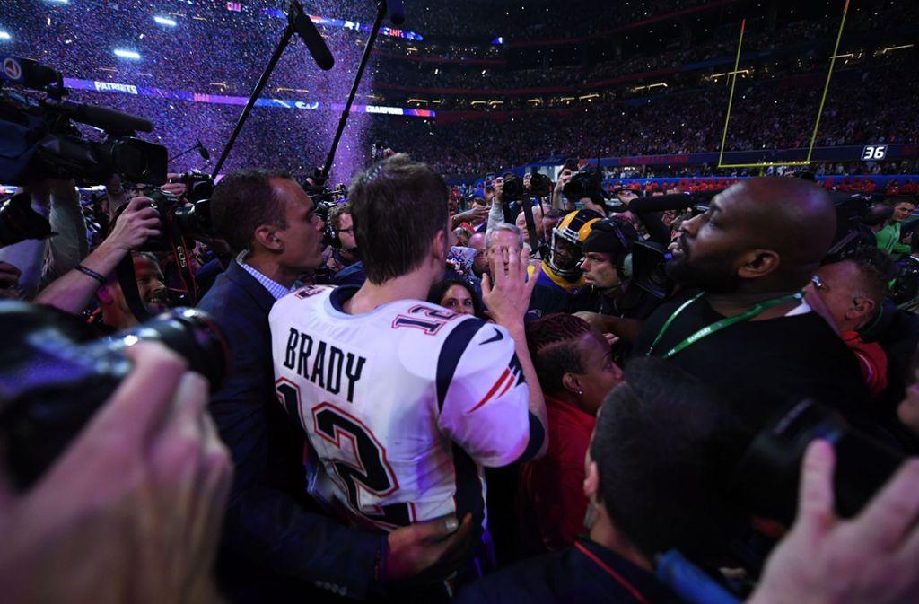 Die Frage nach dem Größten aller Zeiten ist geklärt: Tom Brady. Für die NFL steht aber eine Menge auf dem Spiel. Foto: AFP