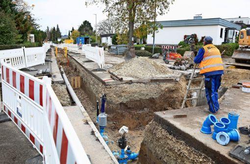 Neue Wasser- und Gasleitungen für vier Straßen