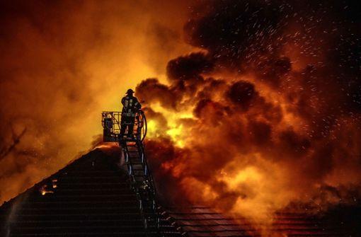 Kritik am Einsatz beim Großbrand in Wernau