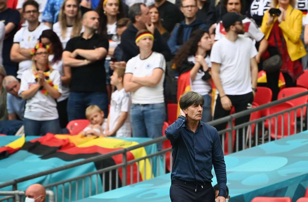Joachim Löw hat mit Deutschland bei der EM 2021 gegen England verloren. Foto: imago images/Sven Simon