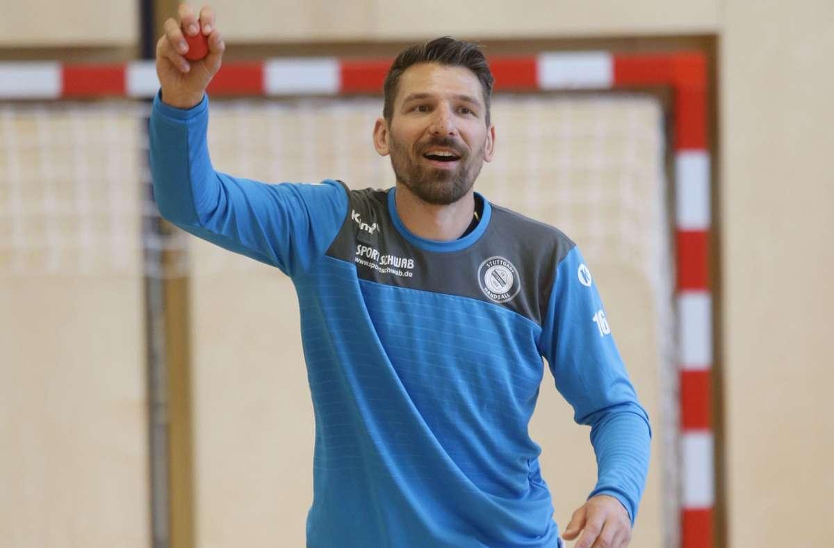 Primoz Prost überzeugt in Balingen für den TVB Stuttgart. Foto: Baumann