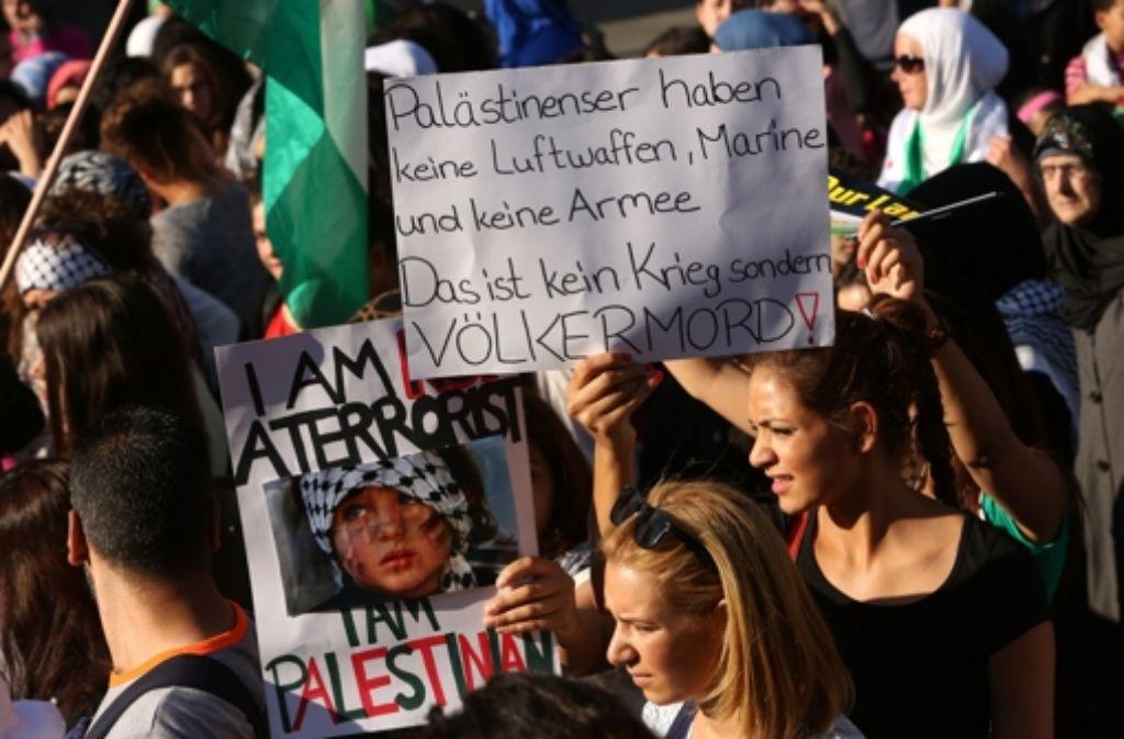 Auch in Berlin wird gegen Israels Vorgehen im Gazastreifen demonstriert. Foto: Getty Images