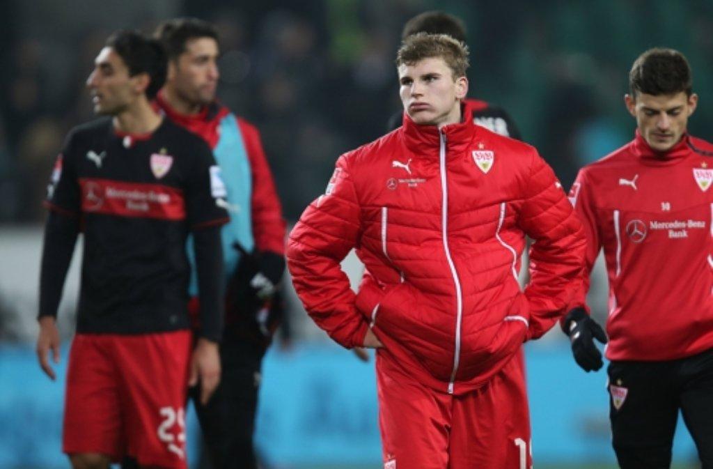 Solange die Verantwortlichen des VfB nicht auf junge Spieler wie Timo Werner (vorne) setzen, bleibt der VfB  ein Patchwork-Kader. Foto: Pressefoto Baumann