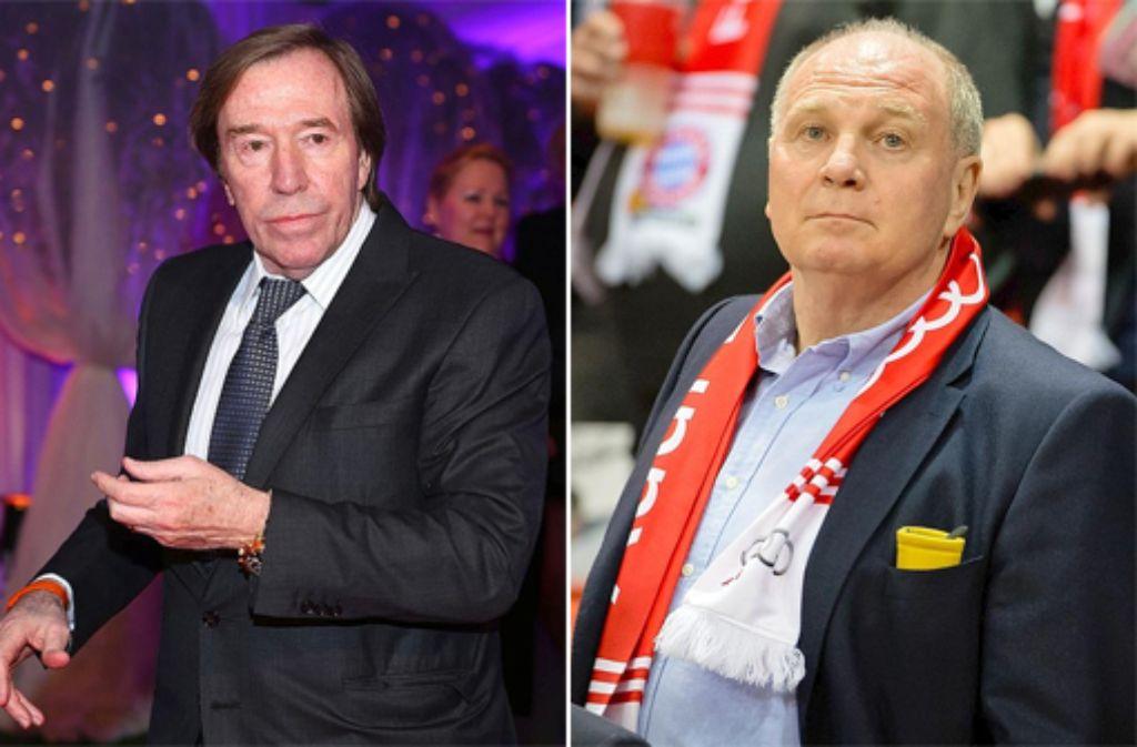 Günter Netzer (links) will Uli Hoeneß im Gefängnis besuchen. Foto: Getty Images/dpa/SIR-Montage