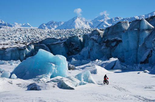 Mit dem Fatbike in Grönland.