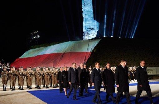Gedenken an der Westerplatte