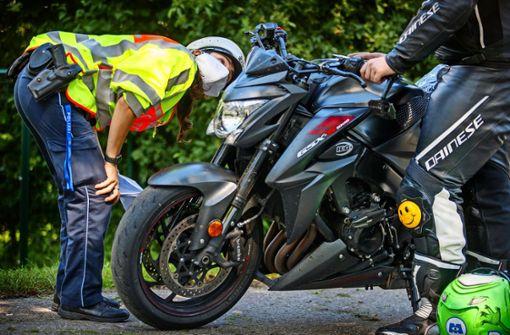 Konzertierte Kontrolle gegen Motorradraser