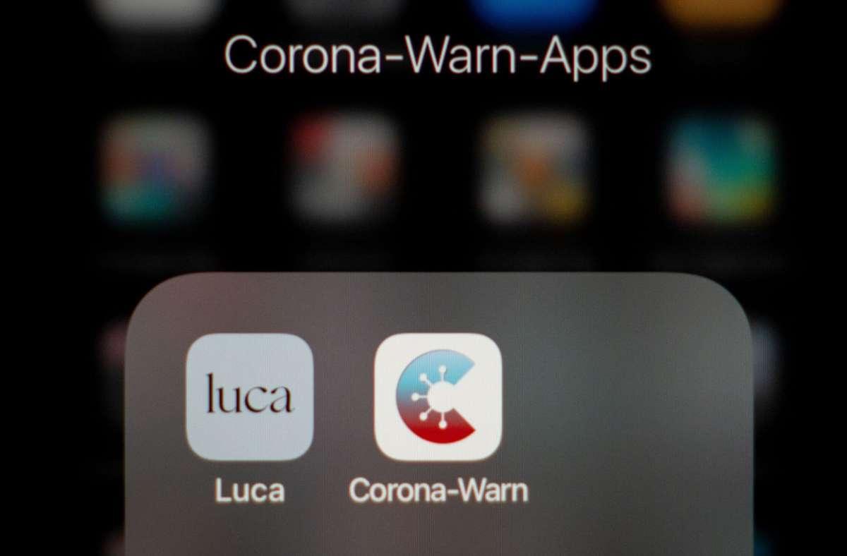 """Die """"Luca""""-App ist eine Methode, um Restaurant-Besucher zu erfassen. Foto: dpa/Kay Nietfeld"""