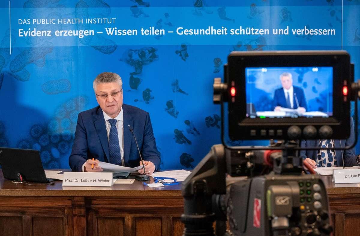 RKI-Präsident Lothar Wieler Foto: dpa/Michael Kappeler