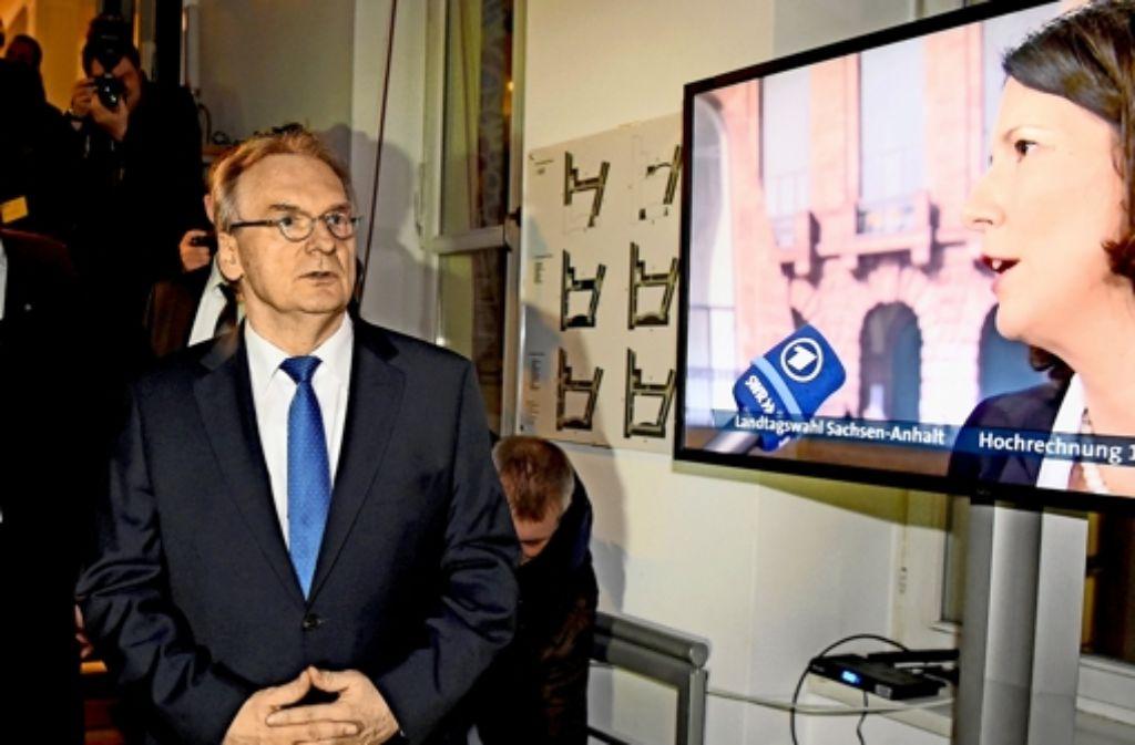CDU-Regierungschef Reiner Haseloff     muss eine  Koalition schmieden. Foto: AP, dpa