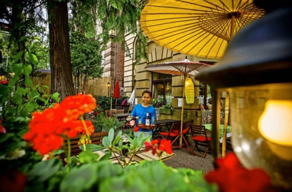 Lokal mit angeschlossenem Gartenparadies: das Thai Thaani in S-Ost Foto: Lichtgut/Kovalenko