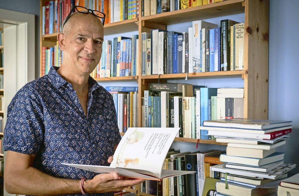 Ein zugewandter Mensch: der Kinderbuchautor und Lyriker Mathias Jeschke Foto: Lichtgut/Achim Zweygarth