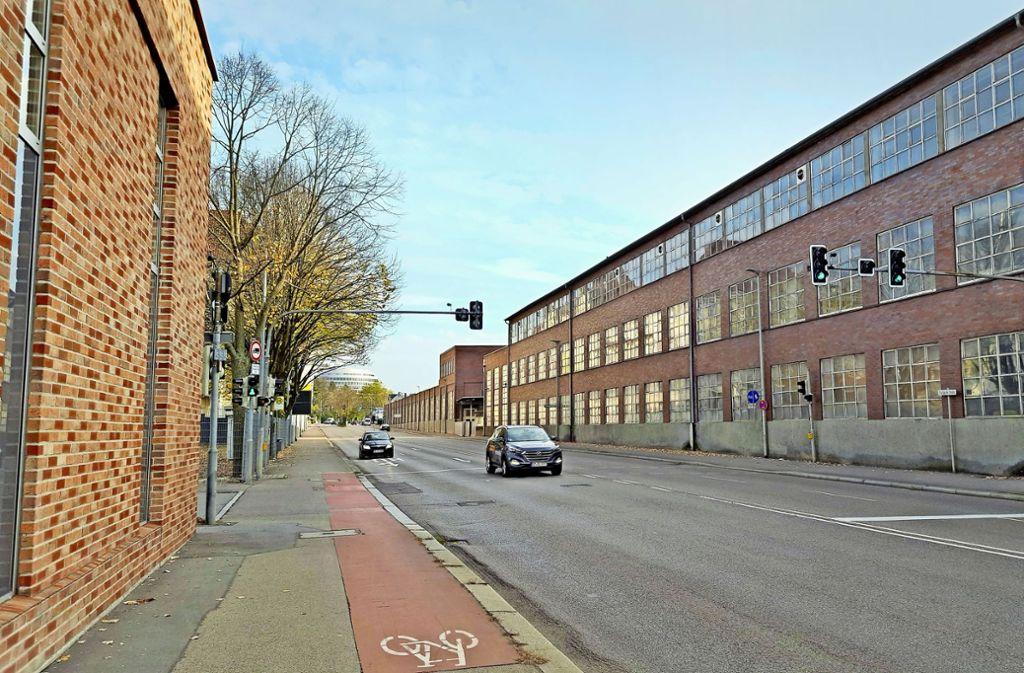 Das Boehringer-Areal säumt zusammen mit dem gegenüberliegenden Firmensitz von Märklin den westlichen Stadteingang. Foto: StZ