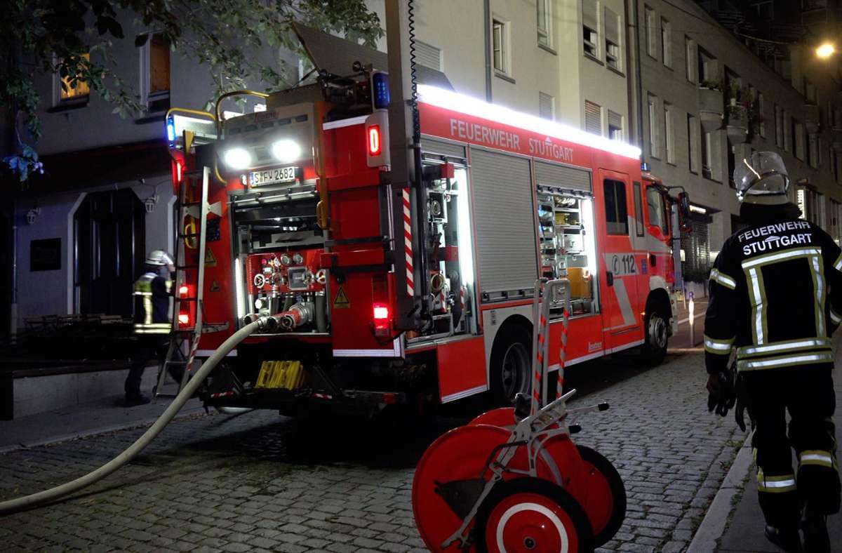 Die Feuerwehr hat den Brand schnell unter Kontrolle. Foto: 7aktuell.de/Alexander Hald
