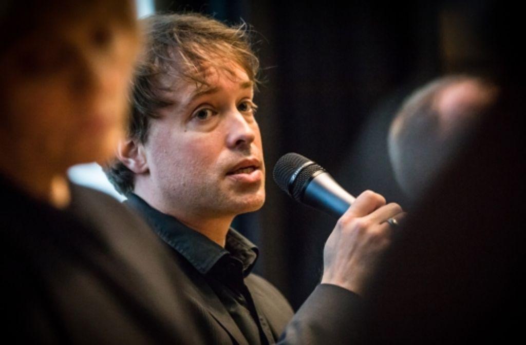 """Der StZ-Redakteur Erik Raidt hat die nun mit einem Preis ausgezeichnete Serie """"Liebe Daisy"""" konzipiert und geschrieben. Foto: Achim Zweygarth"""