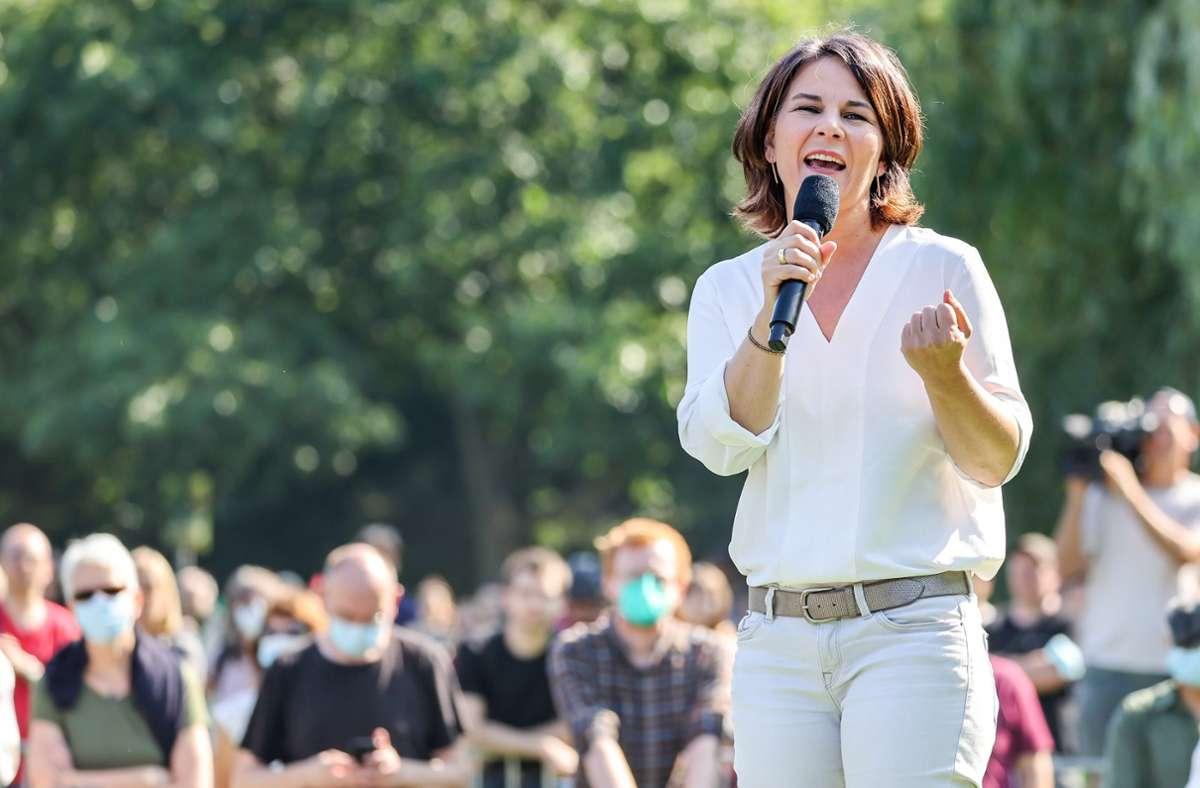 Annalen Baerbock will als Kanzlerkandidatin der Grünen die Partei in Regierung führen. Foto: dpa/Jan Woitas