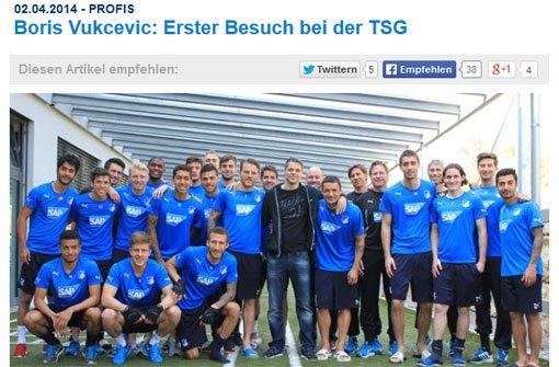Boris Vukcevic besucht seine Mannschaft