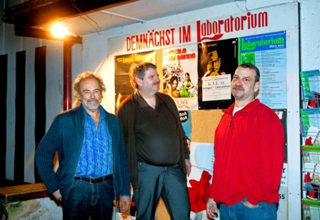 Die Vorstände Rolf Graser (links), Loenhard Lambrecht (Mitte) und Roland Maier sind die Macher des Laboratoriums. Foto: Horst Rudel