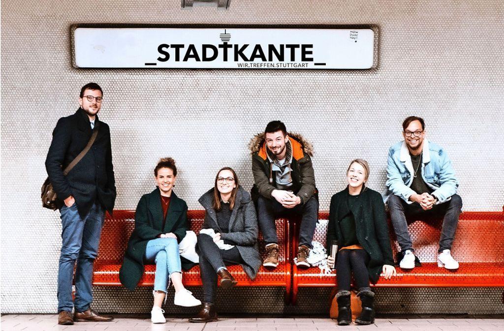Kante zeigen  finden(v. li.): Johannes Seule, Sarah Schindler, Katharina Schmutz, René Böckle, Stefanie Heimann, Nicolai Opifanti Foto: Stadtkante