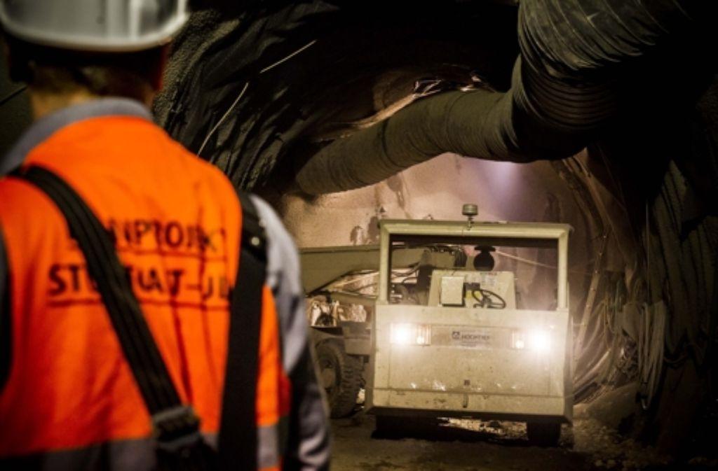 Der Tunnelbau bleibt auch an der Oberfläche nicht unbemerkt. Foto: Lichtgut/Max Kovalenko