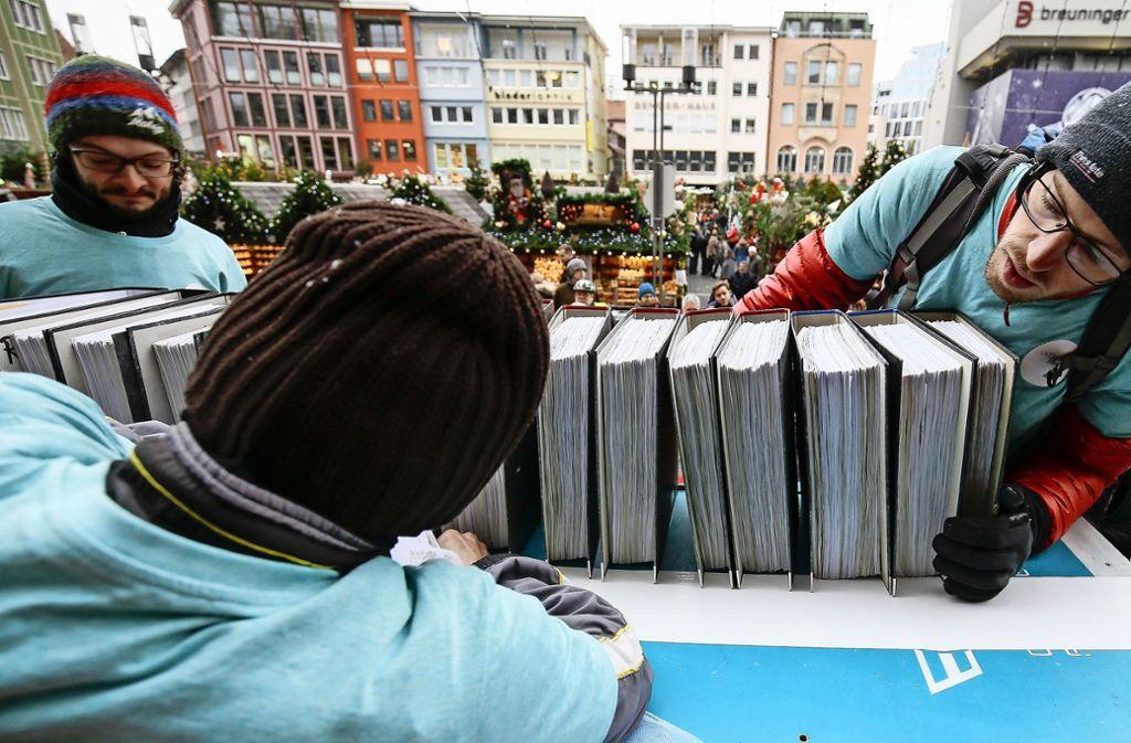 35000 Unterschriften für einen Radentscheid sind gesammelt worden. Foto: Lichtgut/Leif Piechowski