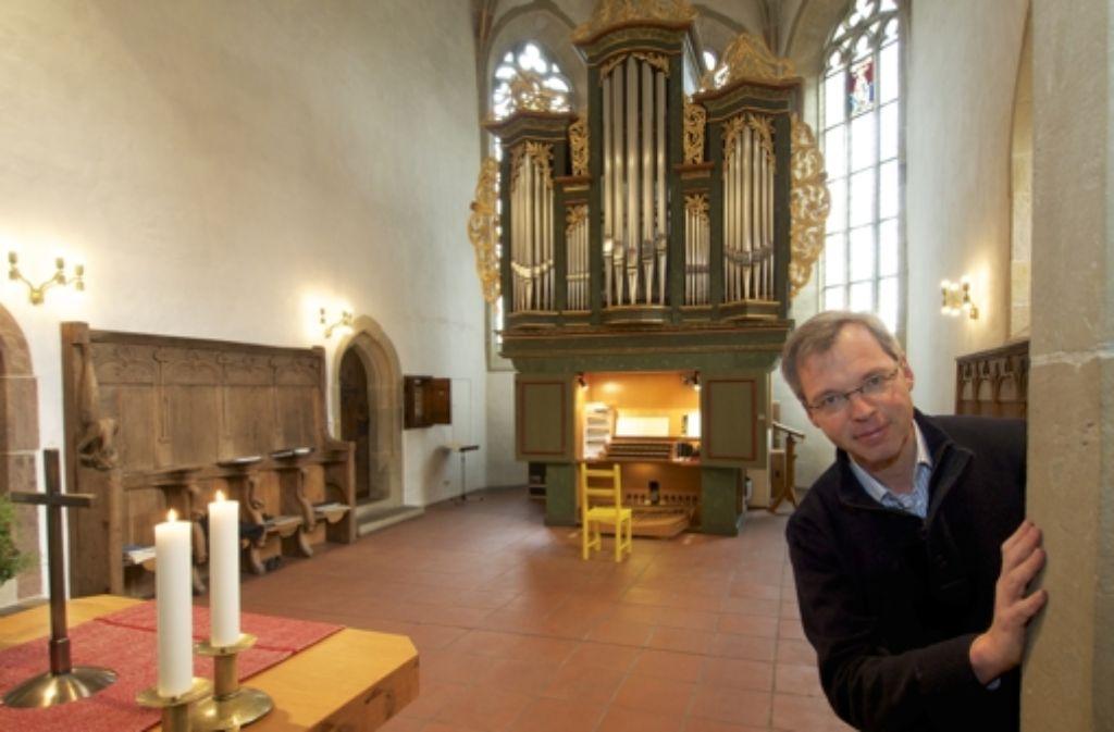 Andreas Gräsle ist der  Bezirkskantor des evangelischen Kirchenbezirks. Er bringt bisweilen Ungehörtes zu Gehör. Foto: FACTUM-WEISE