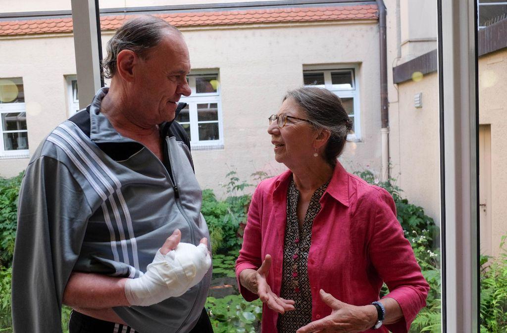 Werner Dieterich und Patientenfürsprecherin Renate Gebeßler Foto: Lichtgut/Max Kovalenko