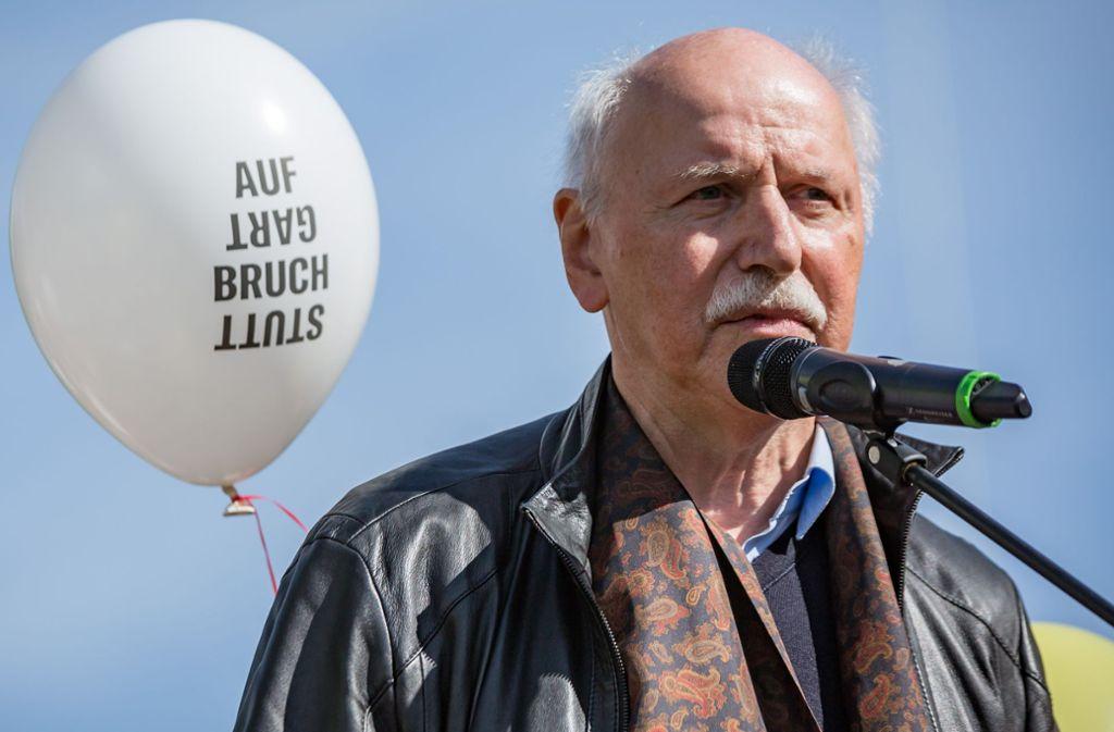 Wieland Backes vom Verein Aufbruch Stuttgart ärgert sich über OB Fritz Kuhn. Foto: Lichtgut/Julian Rettig