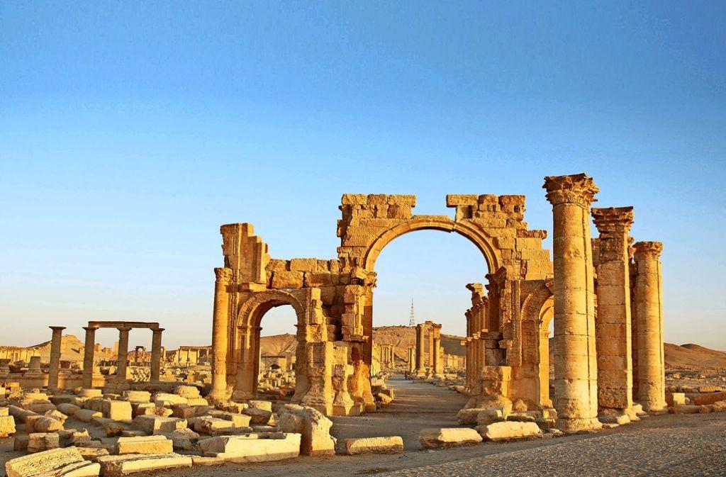 Tempelruinen in Palmyra Foto: dpa