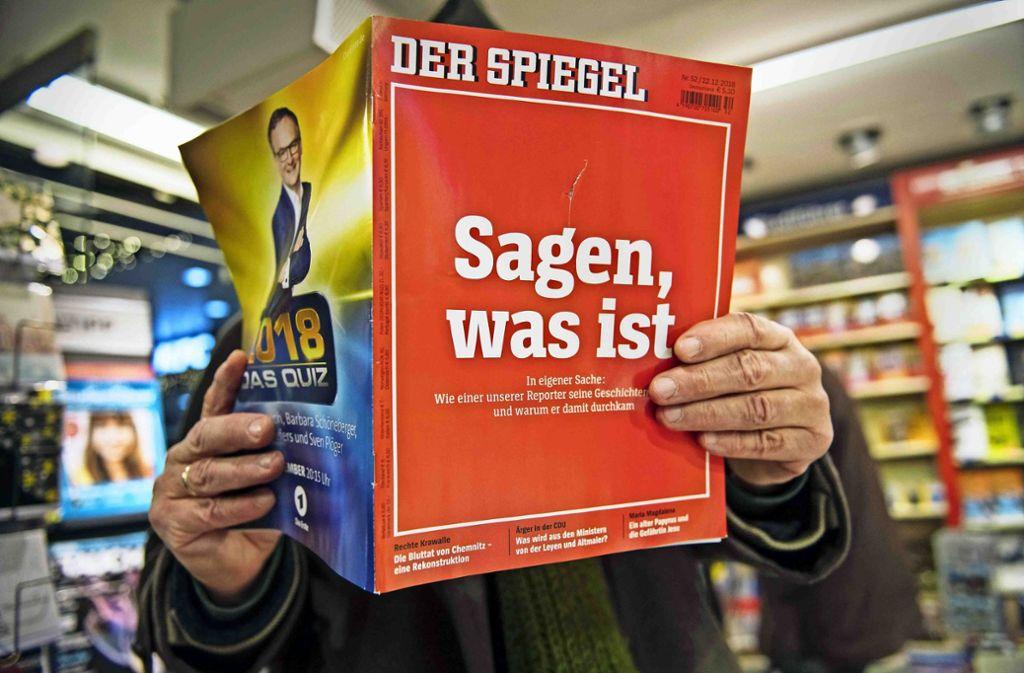"""In seiner aktuellen Ausgabe behandelt  der """"Spiegel"""" die Affäre im eigenen Haus. Aber es gibt schon wieder einen neuen Stand. Foto: Getty"""