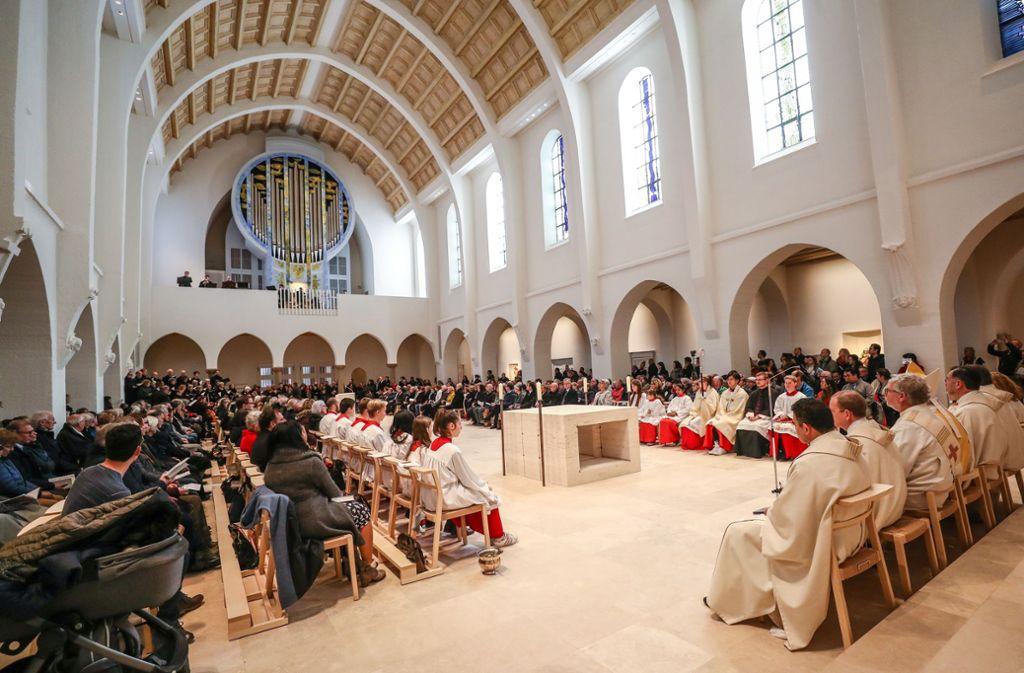 Gottesdienst zur Eröffnung des spirituellen Zentrums. Foto: Lichtgut/Christoph Schmidt