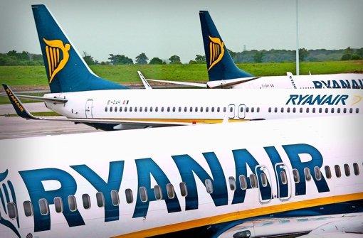 Ryanair-Maschinen mit der stilisierten Harfe auf dem Seitenleitwerk werden bald auch auf den Fildern landen. Foto: dpa