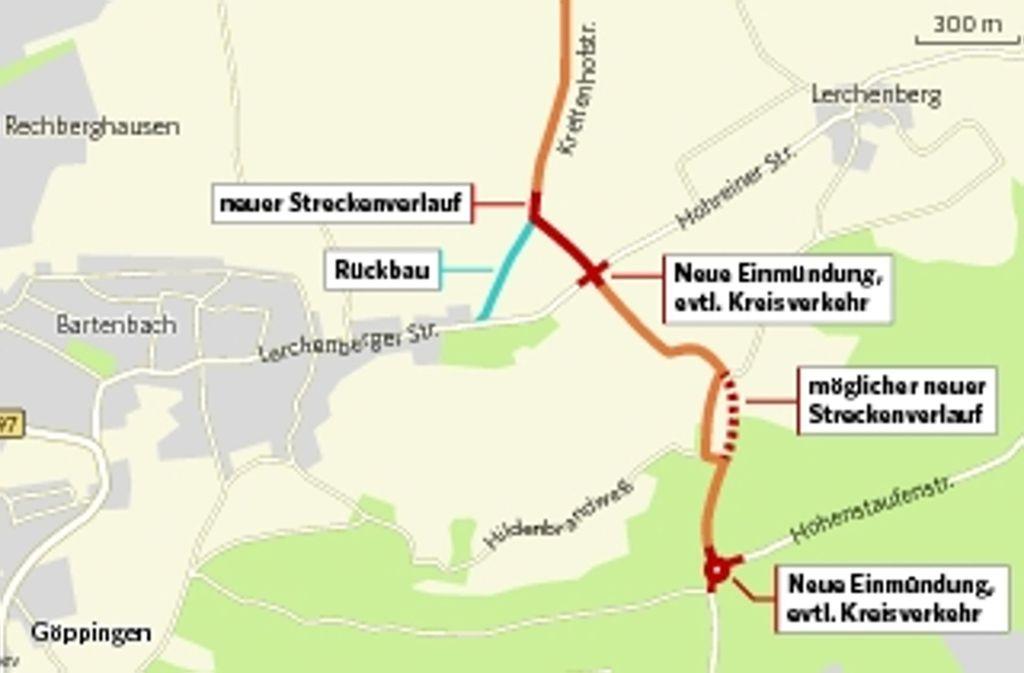 Der geplante Streckenverlauf soll Bartenbach vor Schleichverkehr schützen. Foto: jev