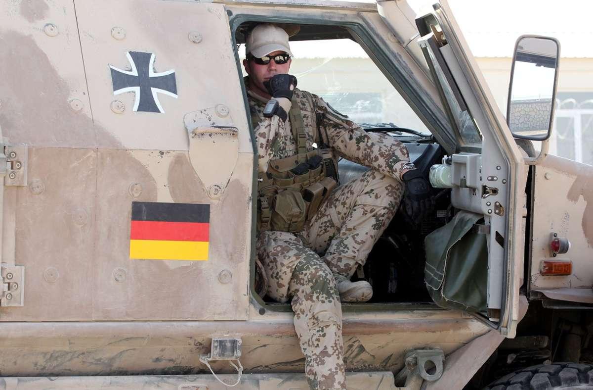 Ein Soldat der Bundeswehr in Afghanistan. Foto: dpa/Maurizio Gambarini