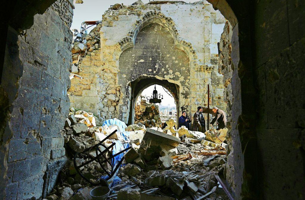 Zerstörte Metropole Aleppo: Der Wiederaufbau wird lange dauern. Foto: Uni Konstanz,  AP