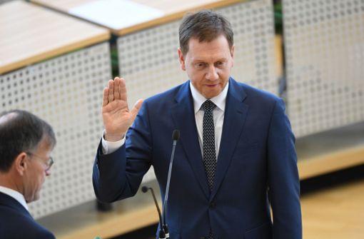 Michael  Kretschmer als Ministerpräsident wiedergewählt