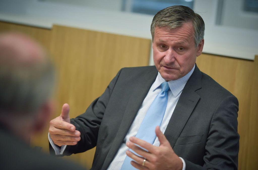 Hans-Ulrich Rülke beweist mal wieder Sinn für Satire. Foto: Lichtgut/Max Kovalenko