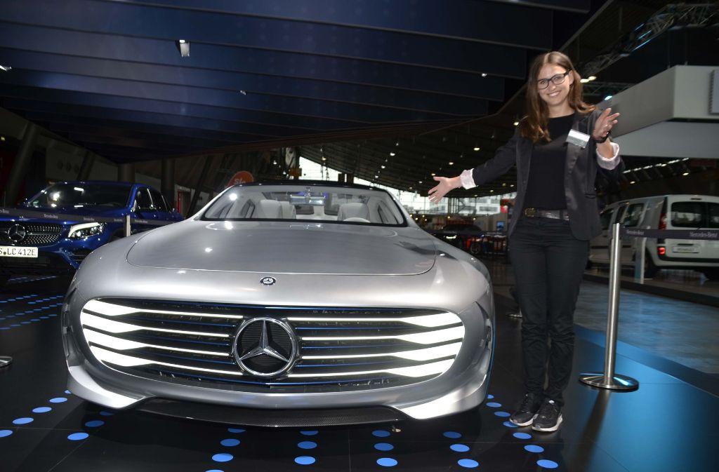 Ein Star der i-Mobility in Stuttgart: Der Mercedes Concept IAA mit 300 PS. Foto: Andreas Rosar Fotoagentur-Stuttgart