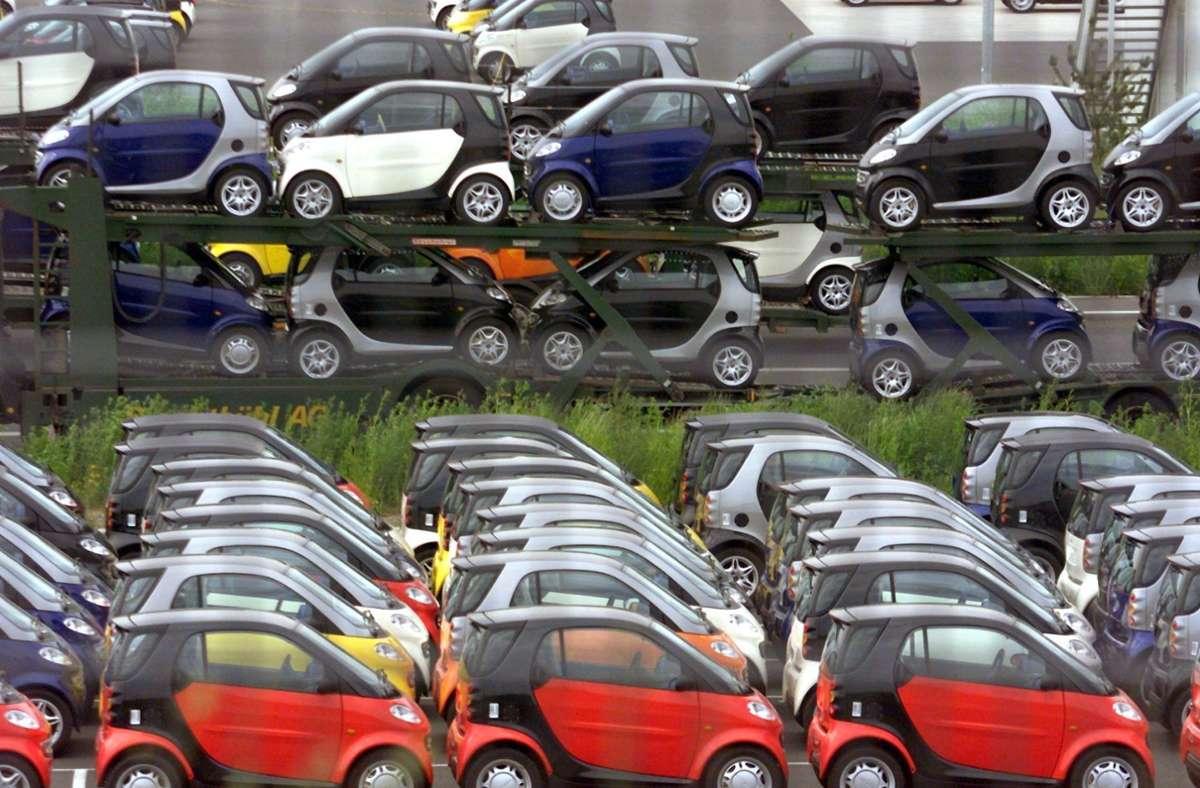 Der Kleinwagen Smart, der bislang im Werk in Hambach gebaut wird, soll künftig in China produziert werden. Foto: dpa/Meyer