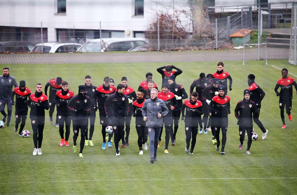 Der VfB Stuttgart ist am Dienstagvormittag in die Trainingswoche gestartet. Foto: Baumann