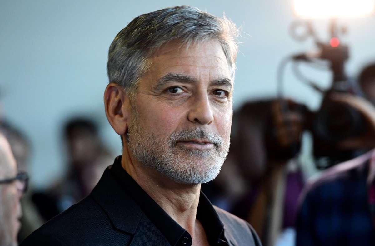 George Clooney im Mai 2019 in London bei der Premiere des Films «Catch-22 –  Der böse Trick» Foto: dpa/Ian West