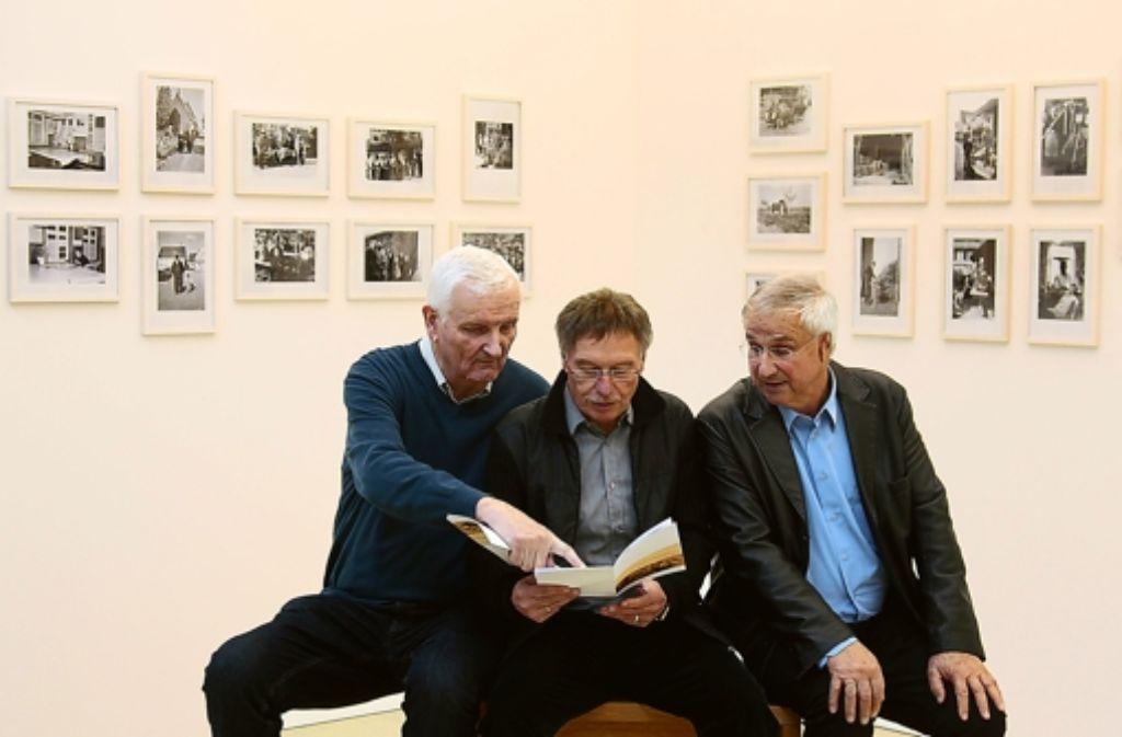 Die drei von der Bildstelle: Erwin Gayer, Peter Klein und Fritz Schurr (von links). Foto: factum