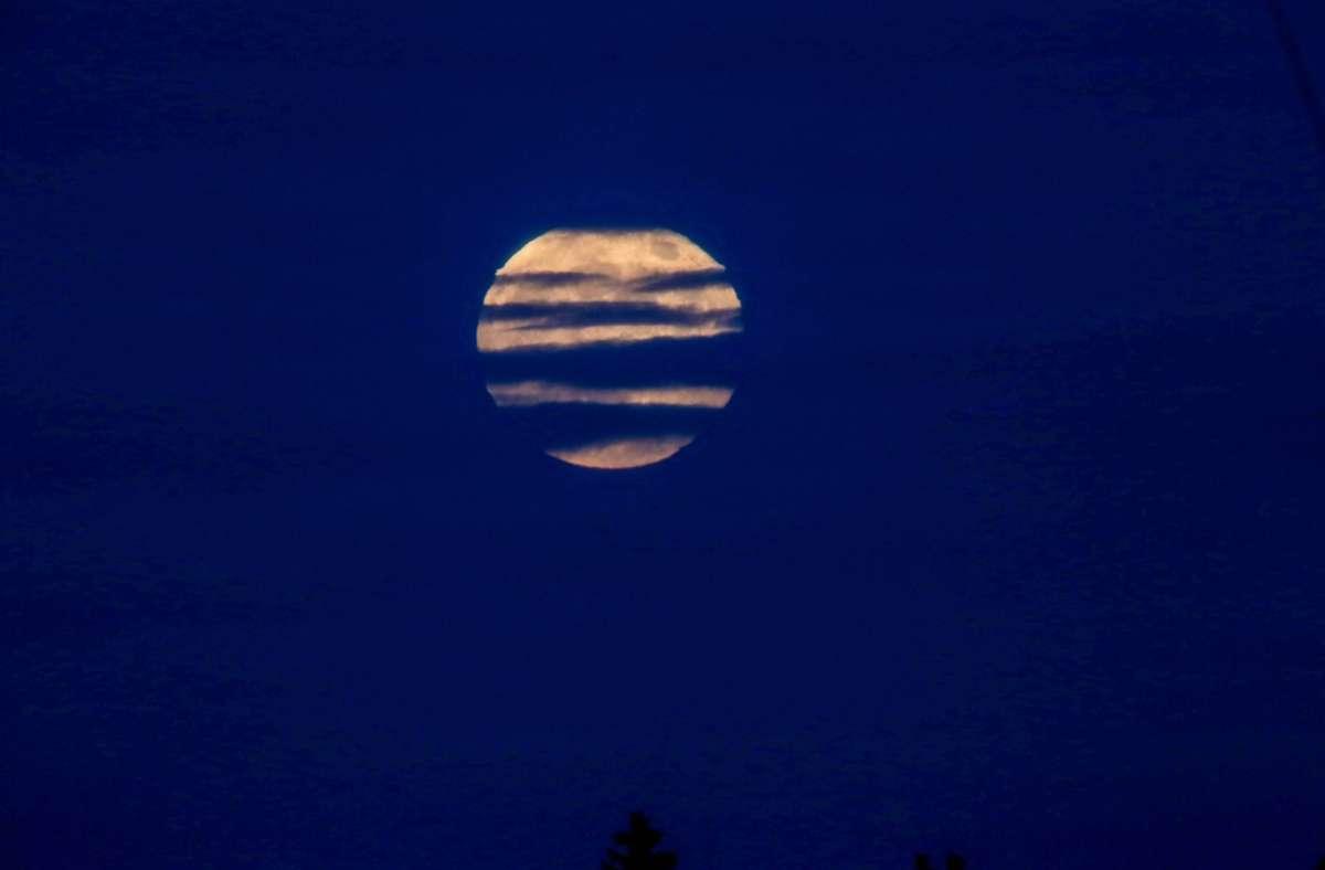 """Wenn sich der Vollmond zwei Mal innerhalb eines Monats zeigt, spricht man von einem """"Blue Moon"""". Foto: 7aktuell.de/Christina Zambito"""