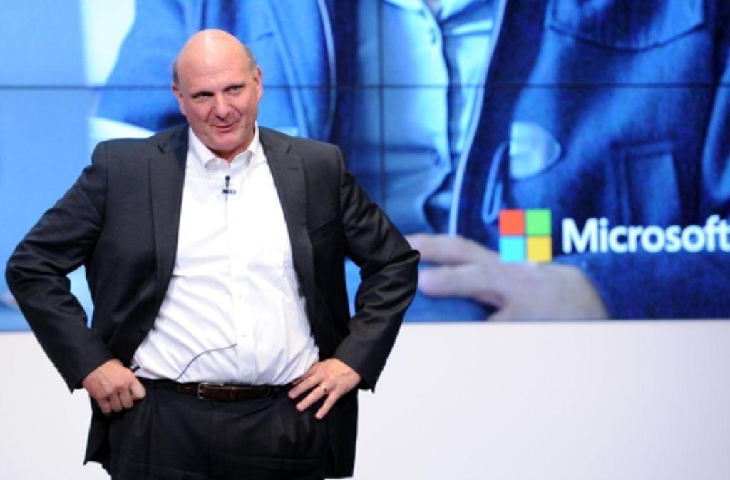 Steve Ballmer und Microsoft gehen künftig getrennte Wege. Foto: dpa