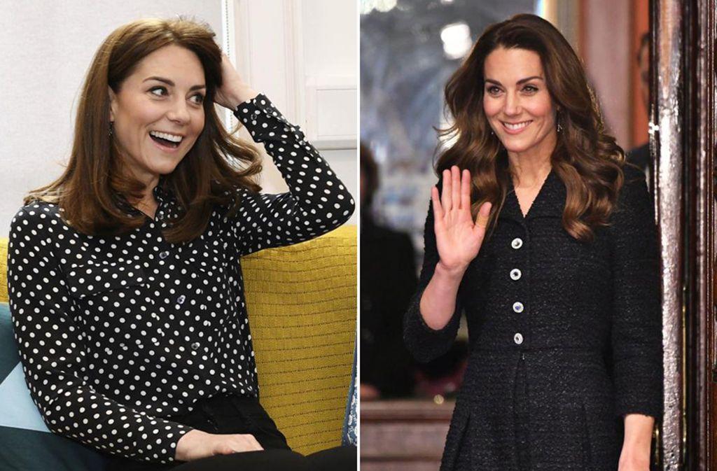Frischer Look für den Frühling: Herzogin Kate trägt ihr Haar jetzt kürzer. Foto: AP/dpa