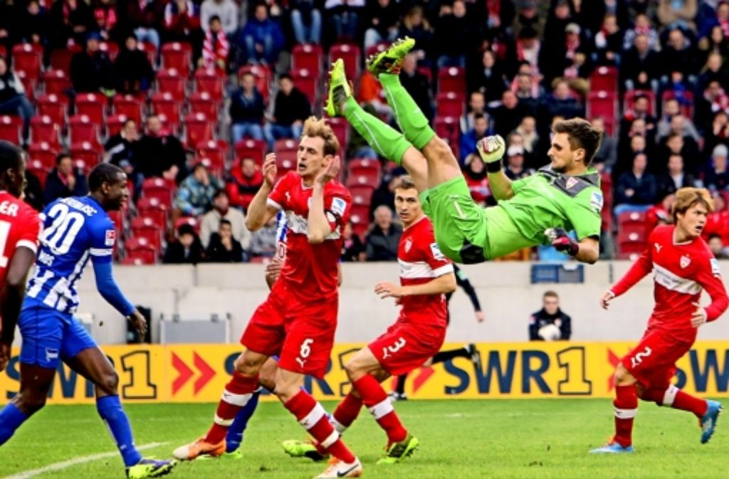Der VfB befindet sich, wie hier der Torhüter Sven Ulreich, weiter im freien Fall. Foto: Baumann