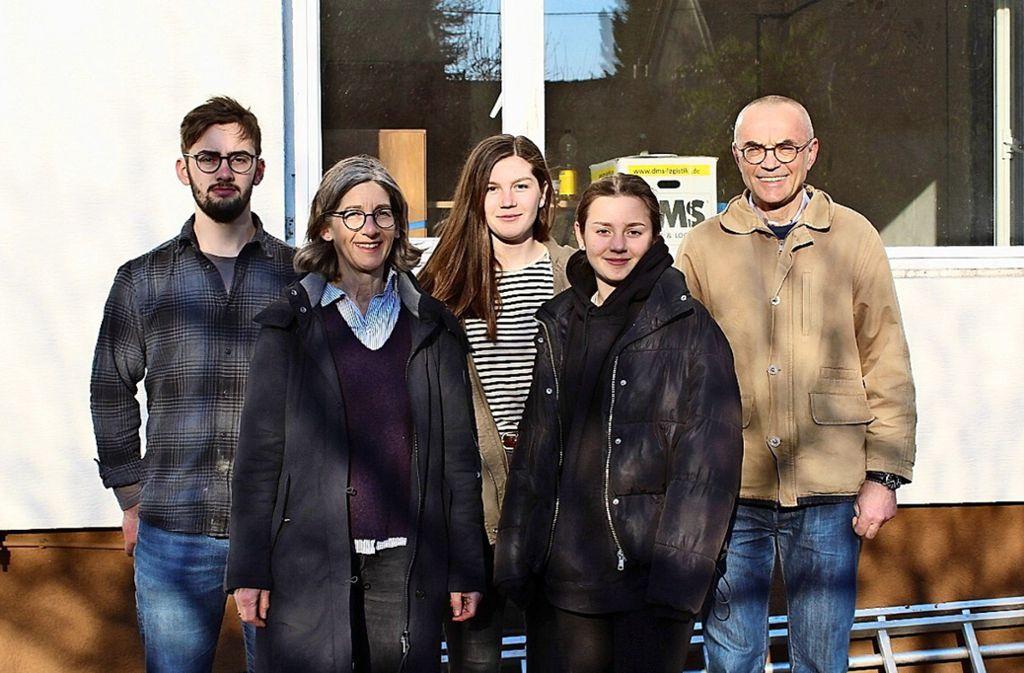 Familie Hellwig hat einem portugiesischen Studenten, der keine Bleibe gefunden hat, eine Unterkunft geboten. Foto: Jacqueline Fritsch