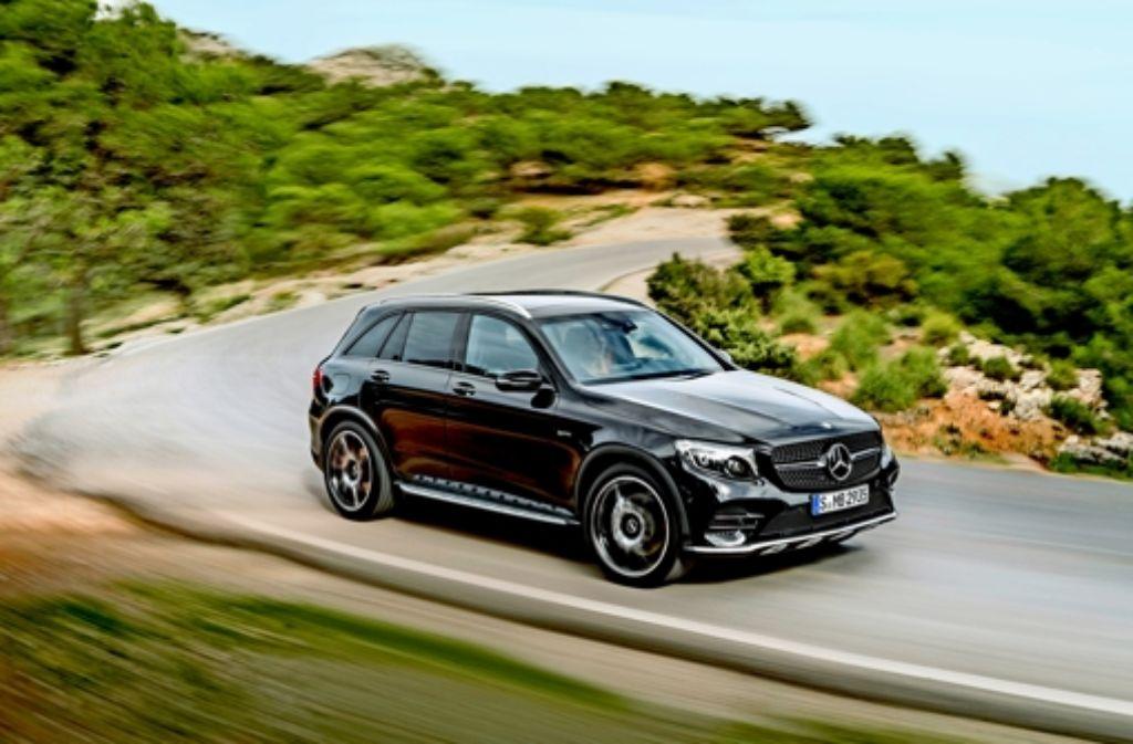 Der Mercedes GLC   soll ab 2017 auch mit Brennstoffzellenantrieb zu haben sein. Foto:
