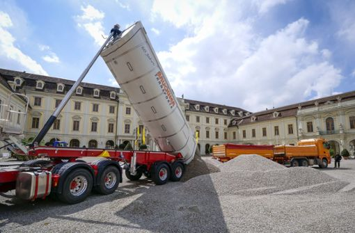 Keine Besucher: Im Ludwigsburger Schloss wuchert das Unkraut