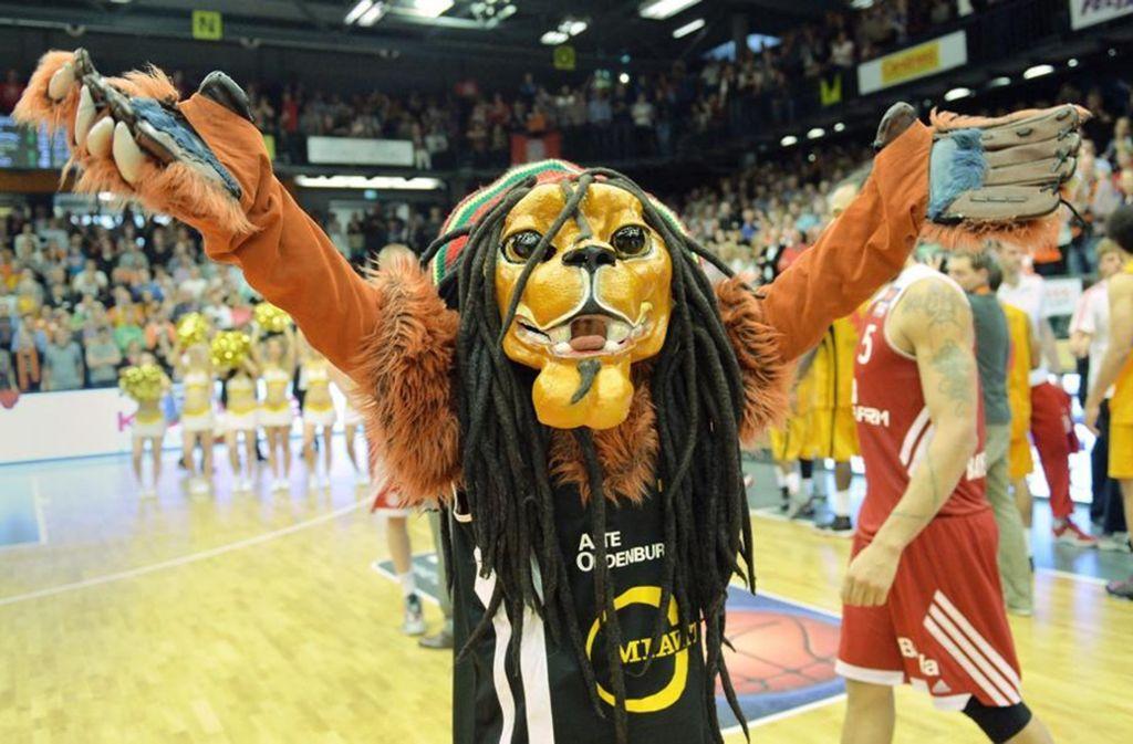 Gut gebrüllt, Löwe Bob: Das Maskottschen steht sinnbildlich für Vechtas Aufschwung. Foto: dpa